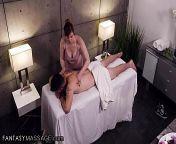 FantasyMassage Valentina Nappi Hides To Give The Client A Hard Handjob & Blowjob During His Massage from valentina nappi kiss romance