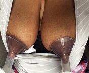 Breast milk for my morning coffee. from ebony milking breast