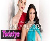 Twistys - Skinny blonde Anny Aurora worships Angela Whites big natural tits from 18 gals 30 beasts angela ki village girl xxx mummy sex vid