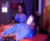 Nurse Ella Cruz & Dr. Lulu Chu Dominate Patient - Amateur Boxxx from sex doctor and nurse jepang