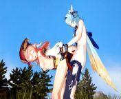 【EULA】【FUTANARI 3D】【YANFEI】【GENSHIN IMPACT】 from genshin hentai 3d